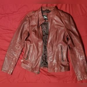 Guess Womens Genuine Leather Jacket size M